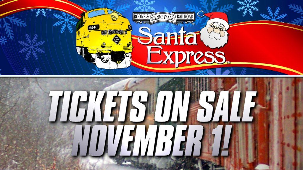 Santa Express tickets on sale November 1
