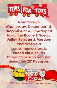The Santa Express and Toys For Tots team up again