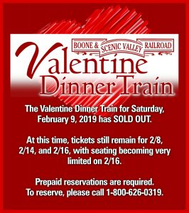Valentine Dinner Train update