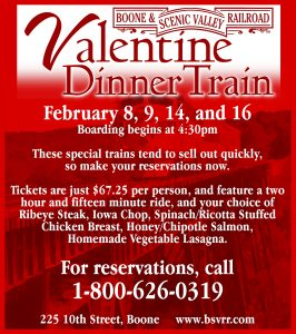 Valentine Dinner Trains arriving in February!