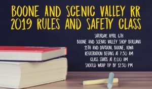 Potential volunteers encouraged to attend B&SVRR Rules and Safety class April 6