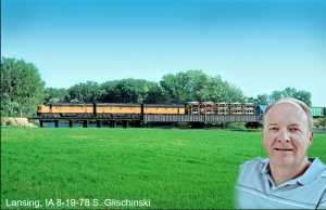 "Steve Glischinski to present ""Iowa Railroading from the 1970s to today"""