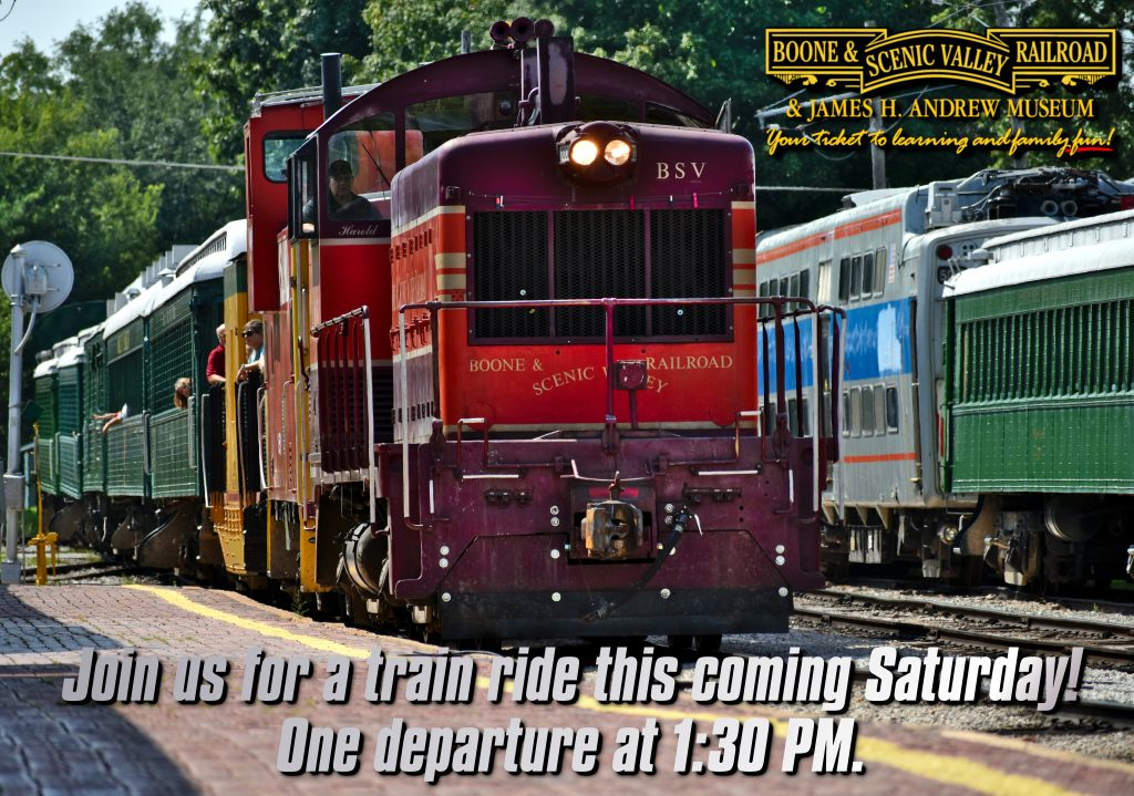 How about going for a train ride on Saturday?