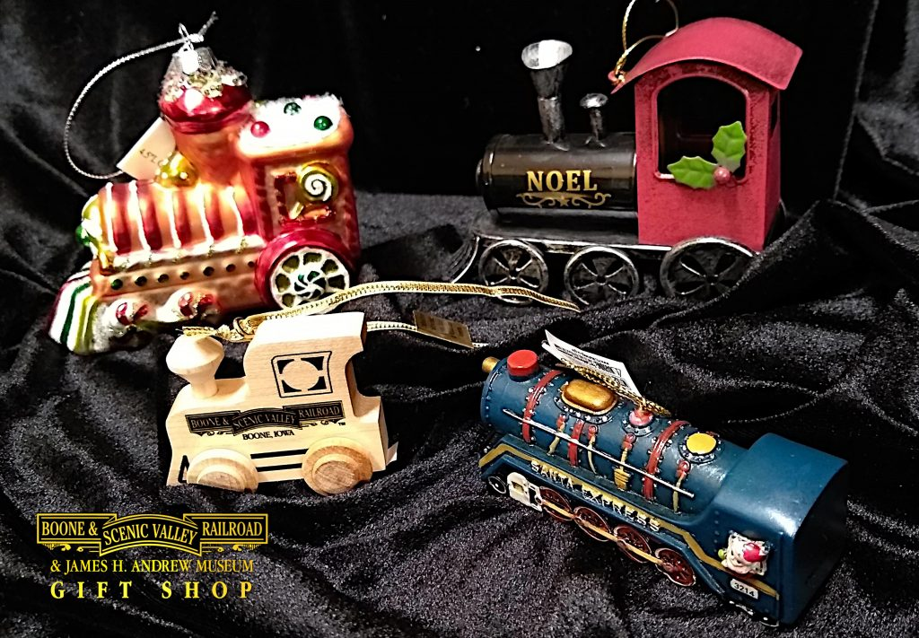 Christmas items from the B&SVRR Gift Shop