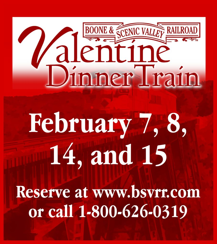 Now accepting reservations for Valentine Dinner Trains