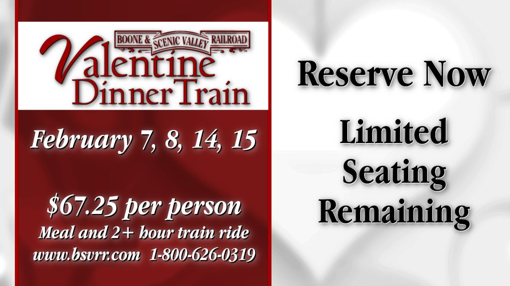 Valentine Dinner Trains are selling out