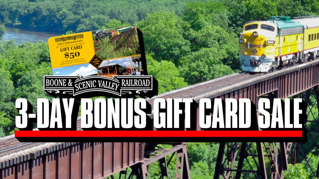 3-Day Bonus Gift Card Sale Underway!