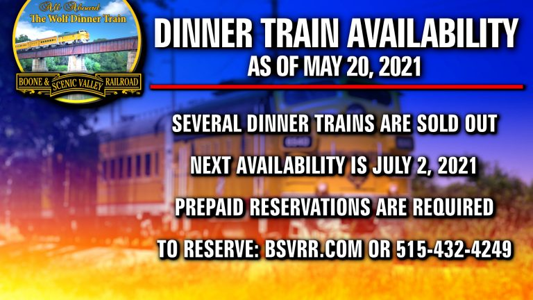 Dinner Trains Selling Out