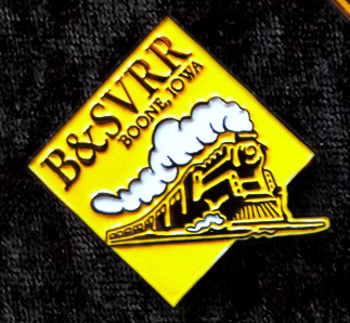 B&SVRR Steam Pin