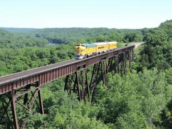 Wolf Lunch Train on Bass Point Creek High Bridge