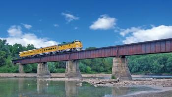 Wolf Lunch Train on Des Moines River Bridge