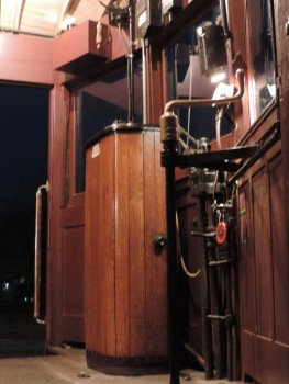The interior of Car 50 at night